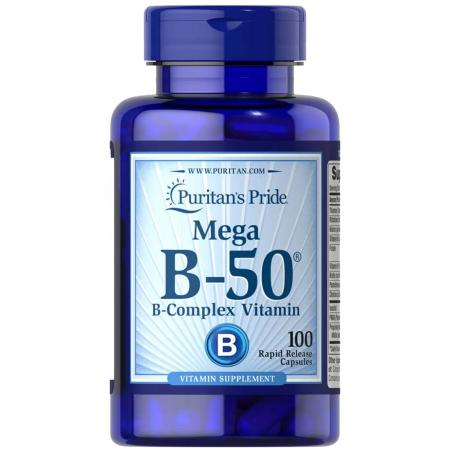 Puritan's Pride Vitamin B-50 Complex, 100 капсул