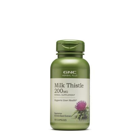 GNC Herbal Plus Milk Thistle 200 mg, 100 капсул