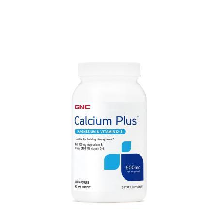 GNC Calcium Plus with Magnesium & Vitamin D3 600 mg, 180 капсул