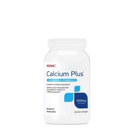 GNC Calcium Plus with Magnesium & Vitamin D3 1000 mg, 180 капсул