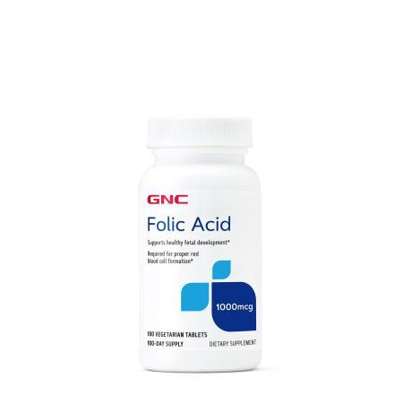 GNC Folic Acid 1000, 100 таблеток