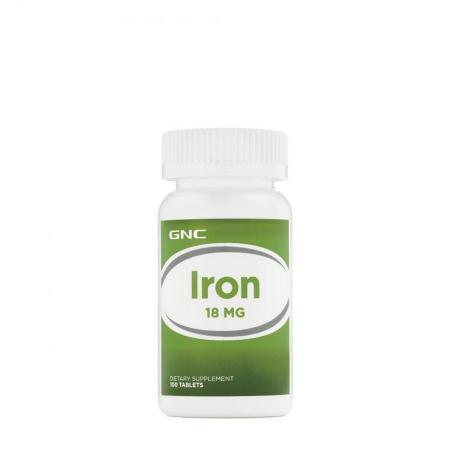 GNC Iron 18 mg, 100 таблеток