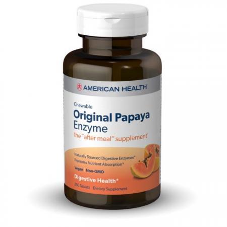 American Health Original Papaya Enzyme, 250 жевательных таблеток