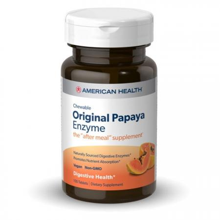 American Health Original Papaya Enzyme, 100 жевательных таблеток