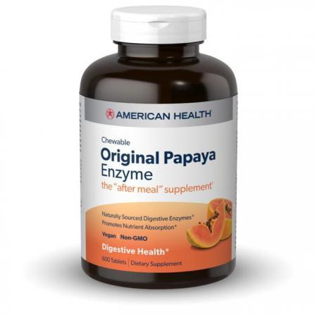 American Health Original Papaya Enzyme, 600 жевательных таблеток