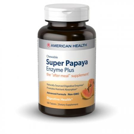American Health Super Papaya Enzyme Plus, 180 таблеток
