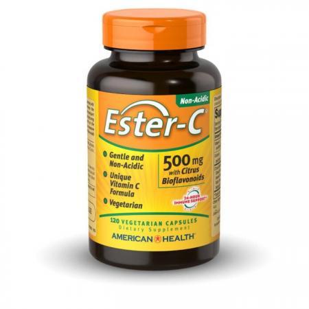 American Health Ester-C with Citrus Bioflavonoids 500 mg, 120 вегакапсул