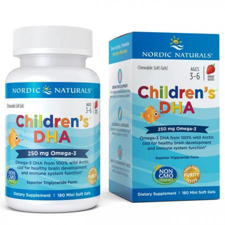 Nordic Naturals Children's DHA 250 mg, 180 капсул - клубника