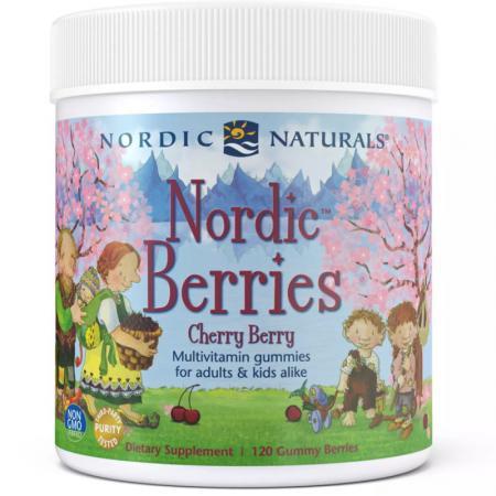 Nordic Naturals Nordic Berries, 120 желеек - вишня