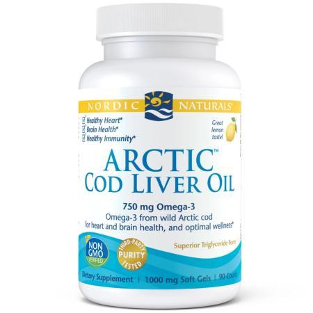 Nordic Naturals Arctic Cod Liver Oil, 90 капсул