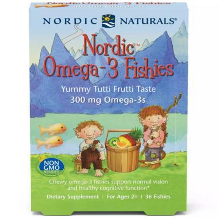Nordic Naturals Nordic Omega-3 Fishies, 36 желеек