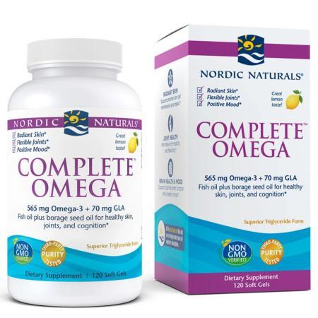Nordic Naturals Complete Omega, 120 капсул - лимон