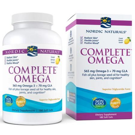 Nordic Naturals Complete Omega, 180 капсул - лимон
