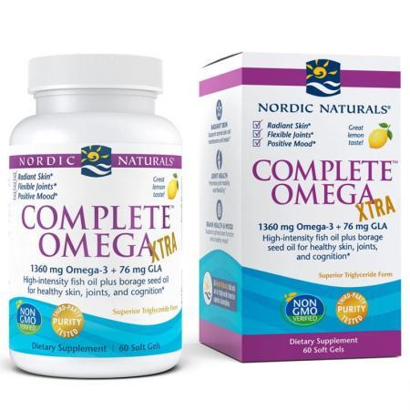 Nordic Naturals Complete Omega XTRA, 60 капсул - лимон