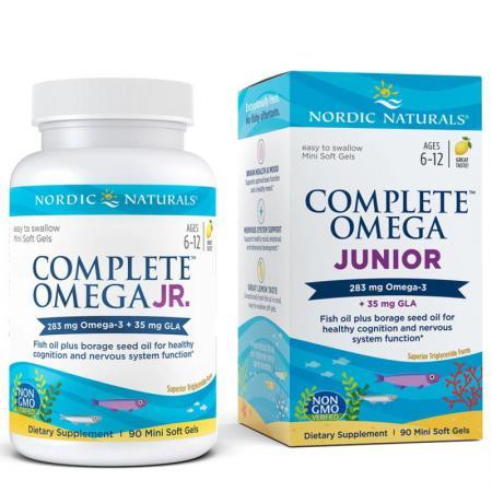 Nordic Naturals Complete Omega Junior, 90 капсул - лимон