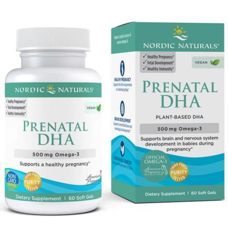 Nordic Naturals Prenatal DHA Vegan, 60 капсул