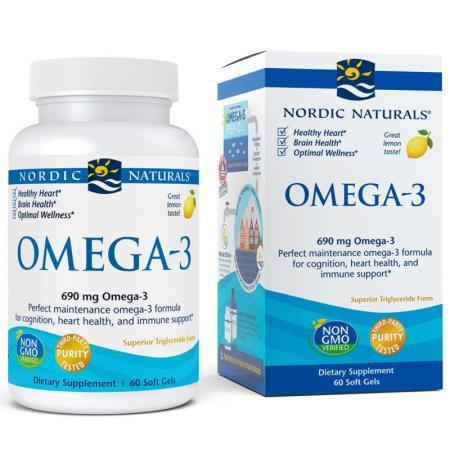 Nordic Naturals Omega-3, 60 капсул