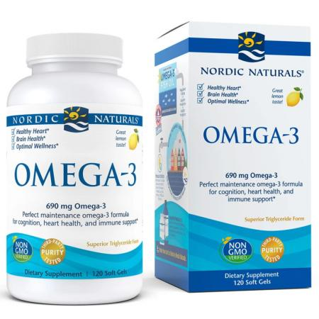 Nordic Naturals Omega-3, 120 капсул