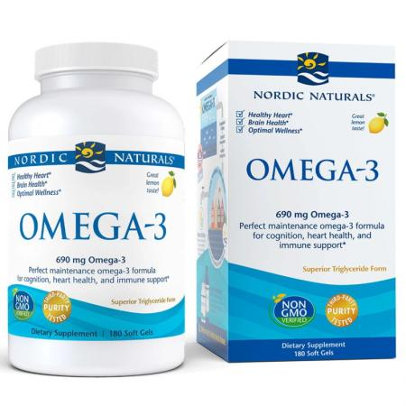 Nordic Naturals Omega-3, 180 капсул
