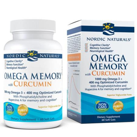 Nordic Naturals Omega Memory with Curcumin, 60 капсул