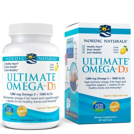 Nordic Naturals Ultimate Omega-D3, 60 капсул