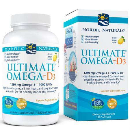 Nordic Naturals Ultimate Omega-D3, 120 капсул