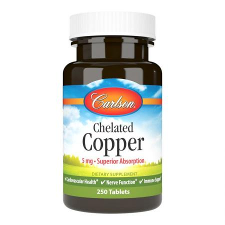 Carlson Labs Chelated Copper, 250 таблеток