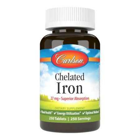 Carlson Labs Chelated Iron, 250 таблеток