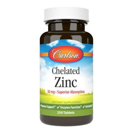 Carlson Labs Chelated Zinc, 250 таблеток