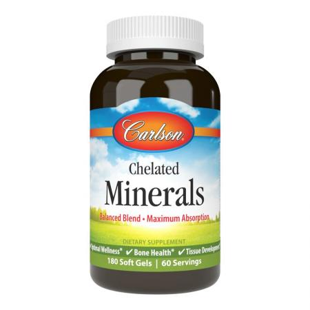 Carlson Labs Chelated Minerals, 180 капсул