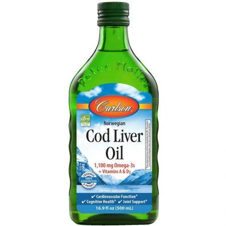 Carlson Labs Cod Liver Oil, 500 мл