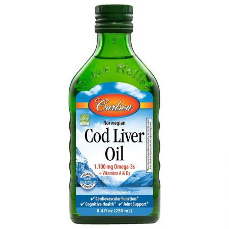 Carlson Labs Cod Liver Oil Liquid, 250 мл