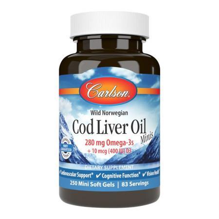 Carlson Labs Cod Liver Oil Gems Mini, 250 капсул