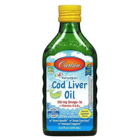 Carlson Labs Kid's Cod Liver Oil Liquid, 250 мл