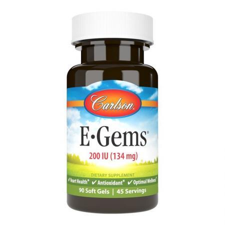 Carlson Labs E-Gems 250 IU, 100 капсул