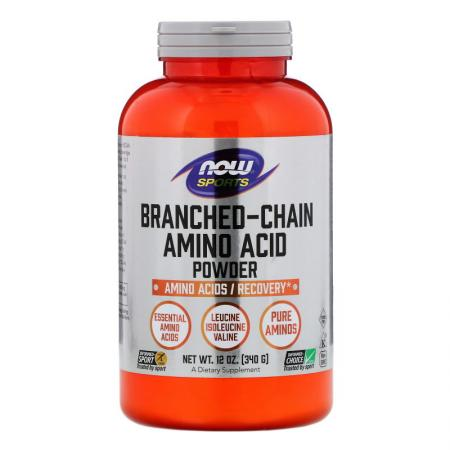 NOW Branched Chain Amino Acids Powder, 340 грамм