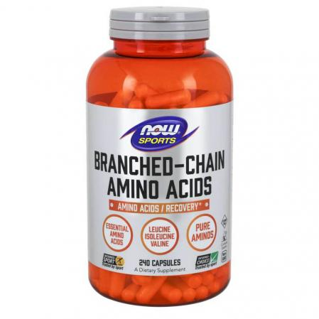 NOW Branched Chain Amino Acids, 240 капсул