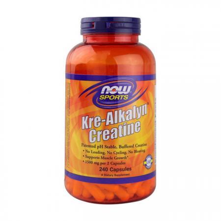 NOW Kre-Alkalyn Creatine, 240 капсул