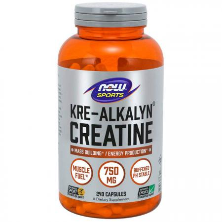 NOW Kre-Alkalyn Creatine, 240 капсул