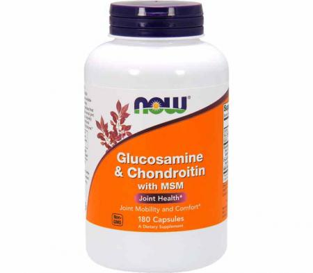 NOW Glucosaminе & Chondroitin with MSM, 180 капсул