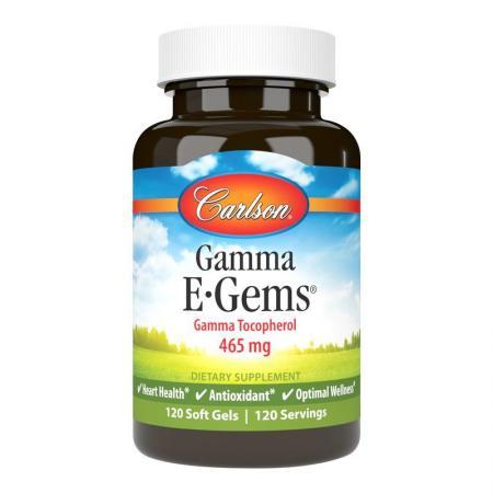 Carlson Labs Gamma E-Gems, 120 капсул