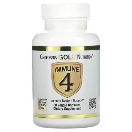 California Gold Nutrition Immune 4, 60 вегакапсула