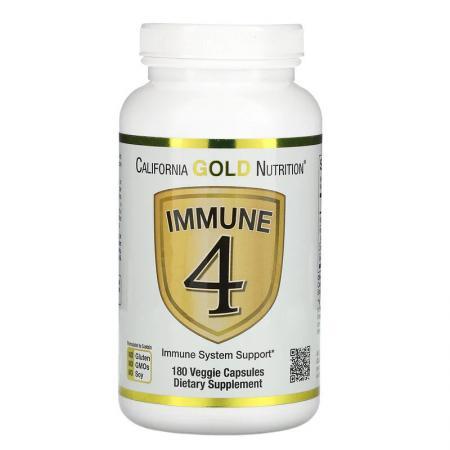 California Gold Nutrition Immune 4, 180 вегакапсула