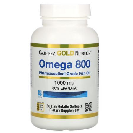 California Gold Nutrition Omega 800, 90 рыбных капсул