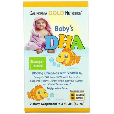 California Gold Nutrition Baby's DHA, 59 мл