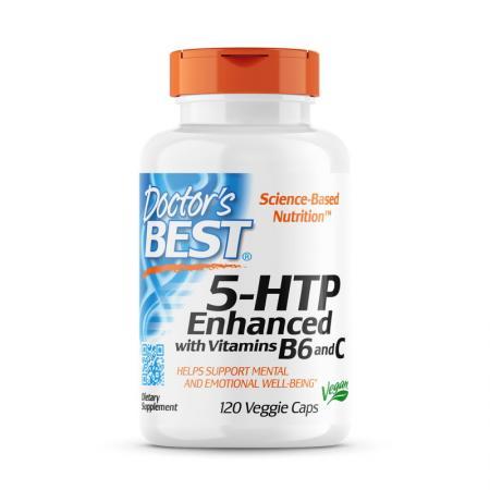 Doctor's Best 5HTP Enhanced with Vitamins B6 & C, 120 вегакапсул