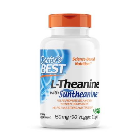 Doctor's Best L-Theanine 150 mg, 90 вегакапсул