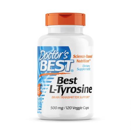 Doctor's Best L-Tyrosine 500 mg, 120 капсул
