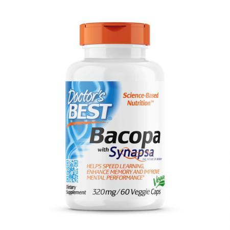 Doctor's Best Bacopa 320 mg, 60 вегакапсул