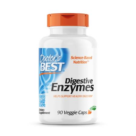 Doctor's Best Digestive Enzymes, 90 капсул